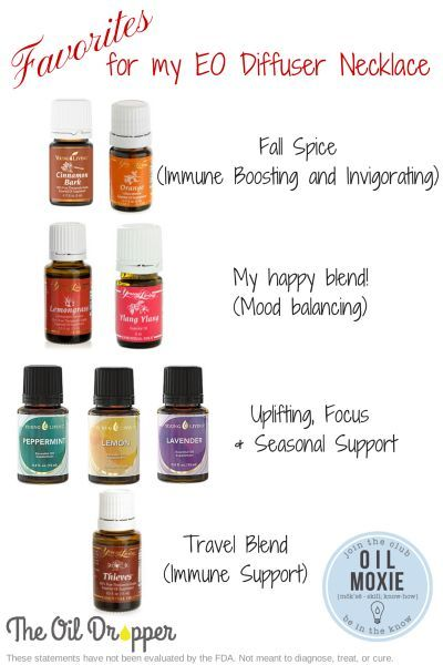 EO combos for diffuser necklace (note for doTERRA users