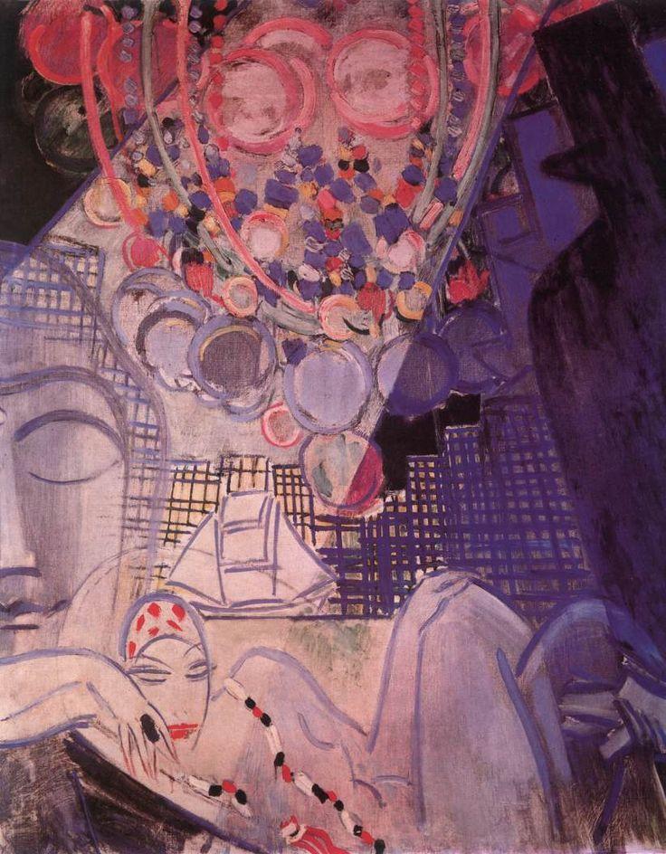 hungarianfineart: Vaszary János A morfinista 1930 Olaj, vászon 120 x 149 cm Budapest, Magyar Nemzeti Galéria