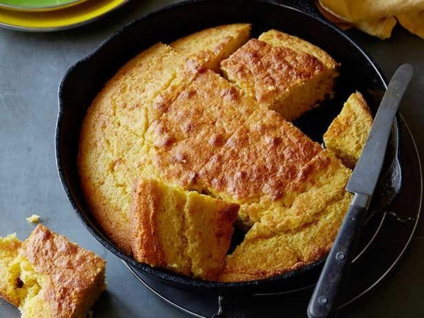 Creamed Corn Cornbread : Alton says a piping hot cast-iron skillet is a must to make this creamed corn cornbread. Serve right out of the skillet for a rustic presentation or invert onto a platter.