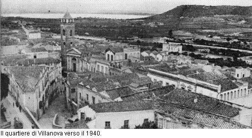 Cagliari, il quartiere di Villanova verso il 1940