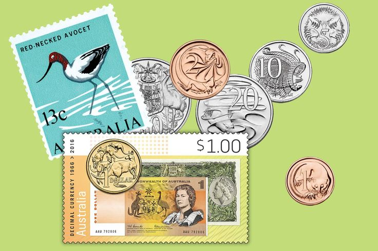 Who misses the $1 note? This Sunday marks the 50th anniversary of the introduction of decimal currency: http://auspo.st/1QnTb2g   #AustralianStamps  #StampCollecting  #Philately