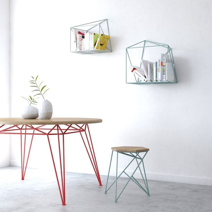 Levantin design round table, chair and book shelvs