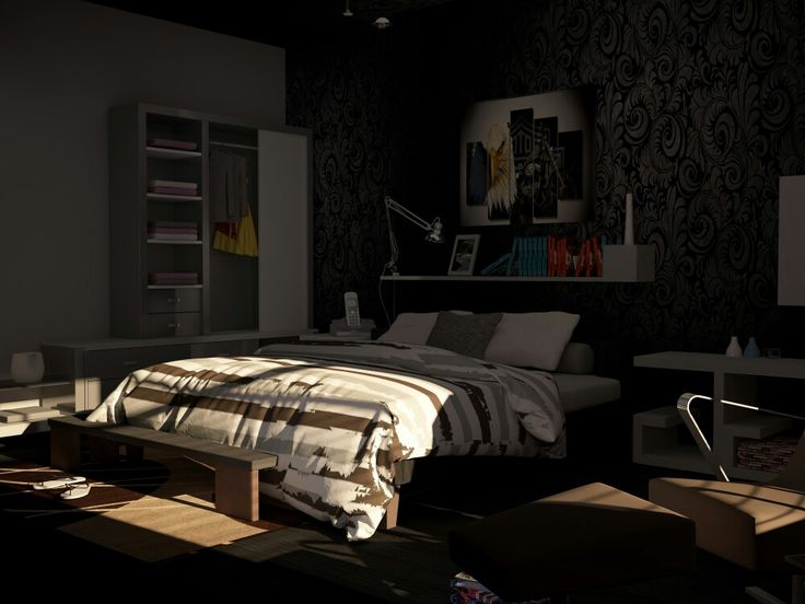 Bedroom 3d visualization by 3dsmax 2014 , Vray Adv. 3 & Photoshop 6