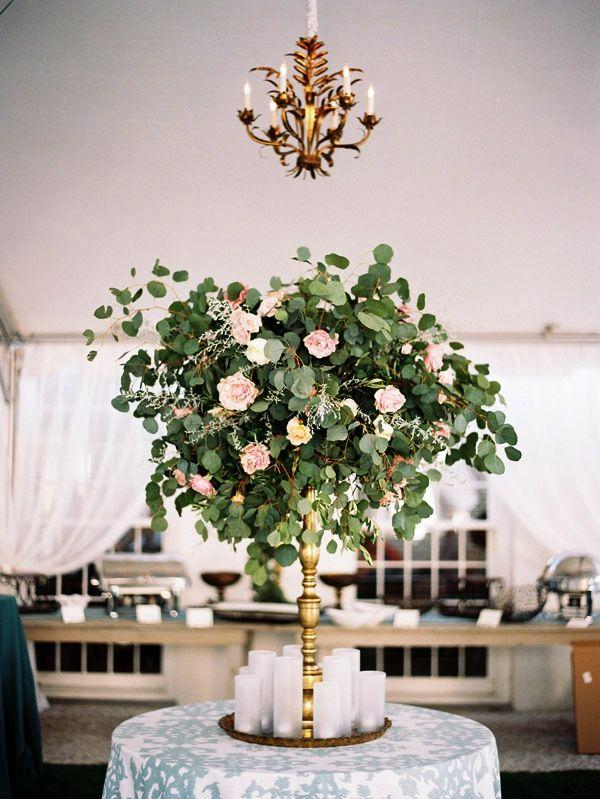 Высокие композиции с цветами на свадьбу Брест 26