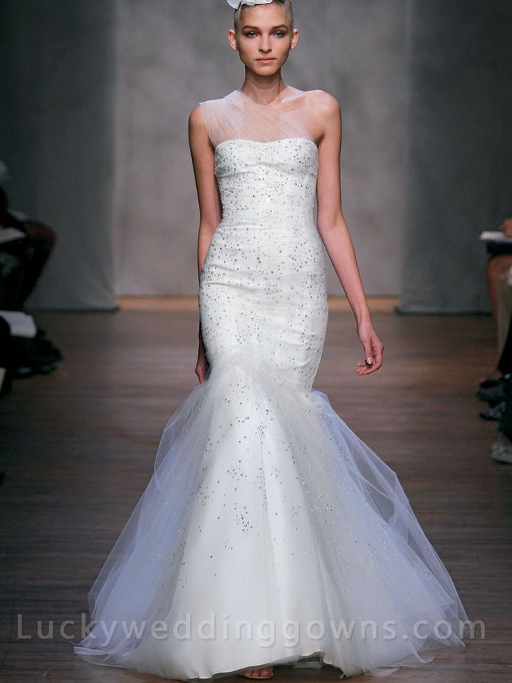 71 best Trumpet wedding dresses images on Pinterest | Short wedding ...