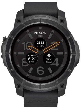 Nixon Men's A1167-001 Mission Rubber Watch, 48mm