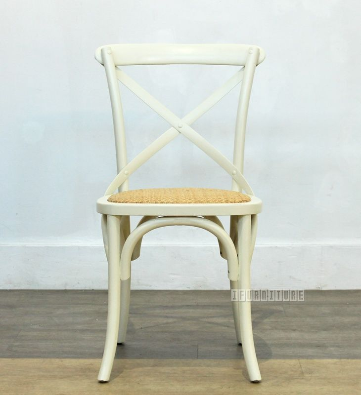Cross Back Chair in White *Solid Birch , Dining Room, NZ's Largest Furniture Range with Guaranteed Lowest Prices: Bedroom Furniture, Sofa, Couch, Lounge suite, Dining Table and Chairs, Office, Commercial & Hospitality Furniturte