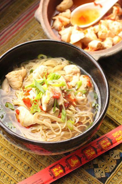 poulet et nouilles aux piments fermentes chine