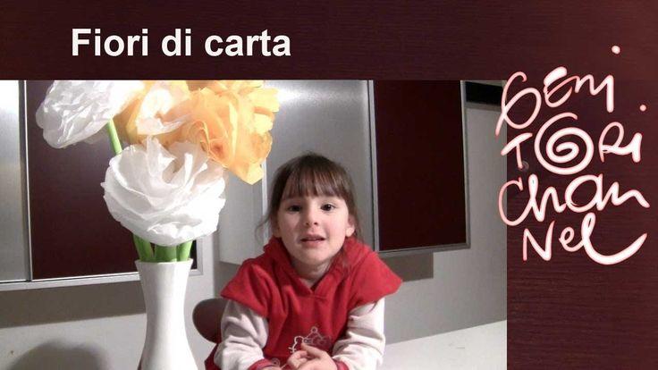 Fiori fatti con i fazzoletti di carta - Festa della mamma (+playlist)