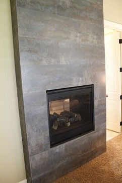 fireplace ideas modern stone tile | Tile Fireplace - modern - fireplaces - kansas city - by Kenny's Tile ...