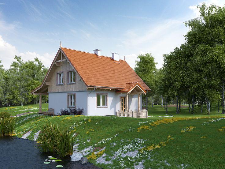 Milutki to dom letniskowy o powierzchni użytkowej prawie 120 m2. Dom zbudowany jest w tradycyjnym stylu, przypomina leśniczówkę, zwłaszcza że elementem ozdobnym elewacji jest drewniana boazeria. Pełna prezentacja na stronie: http://www.domywstylu.pl/projekt-domu-milutki.php. #milutki #domywstylu #mtmstyl #projektygotowe #domrekreacyjny #domyletniskowe