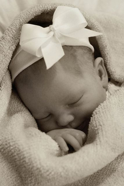 Love this newborn photo. Sweet, simple.