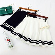 Mori niñas estilo japonés azul marino negro de la raya de una línea de falda, Lolita marinero falda, trajes de cosplay, uniforme japón school(China (Mainland))