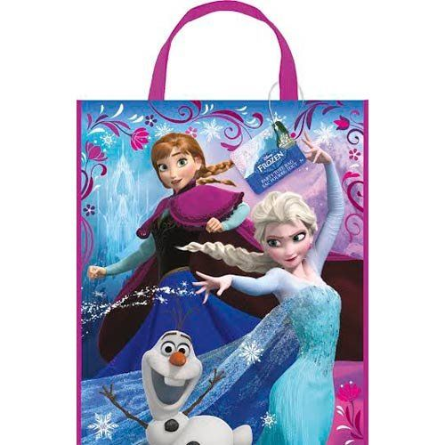 Disney Frozen gifts certainly need their own special gift bags and the bags quickly become part of the gift as the girls will treasure the bags for keeping their favorite Frozen toys.