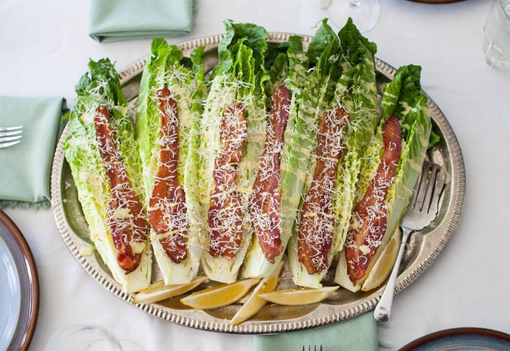 Caesar Wedge Salad, plus more inspiration for winter salads. #recipe #bacon #salad