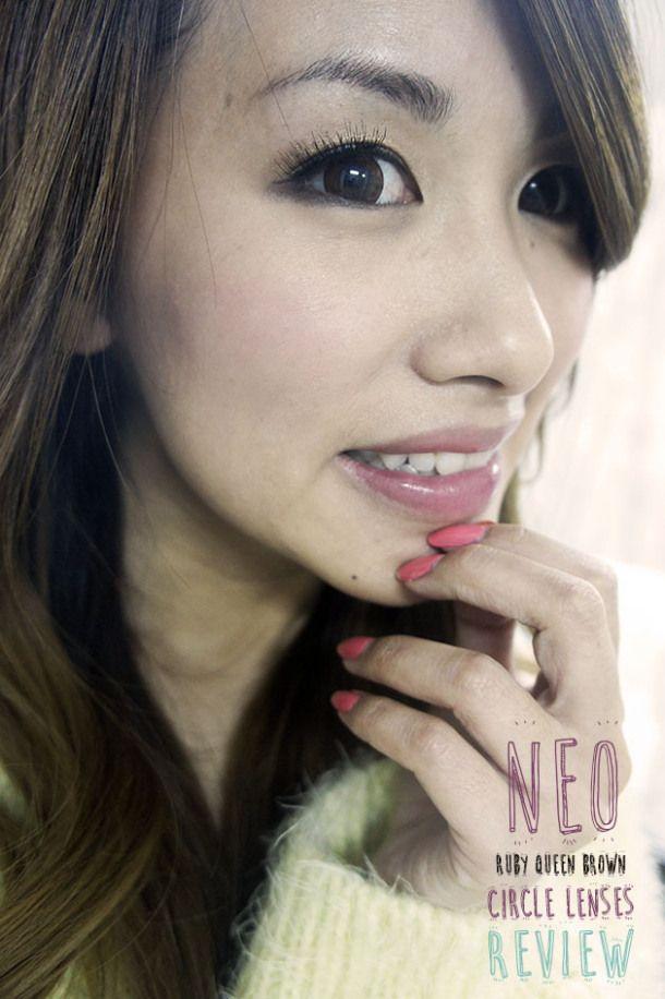 Korean Cosmetic Lenses: NEO Ruby Queen Brown Circle Lenses. #dollyeyes