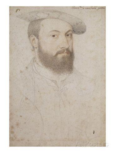 Connétable Anne de Montmorency (1492-1567) reproduction procédé giclée par Jean Clouet sur AllPosters.fr