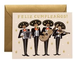 Rifle Paper Co. Mariachi Birthday cards designed by Anna Bond, now at Northlight