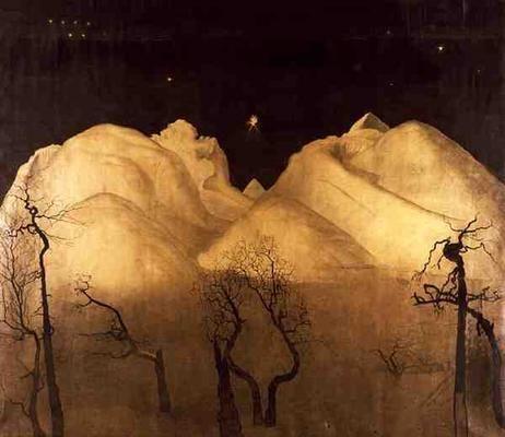 Harald Sohlberg, Winter Night