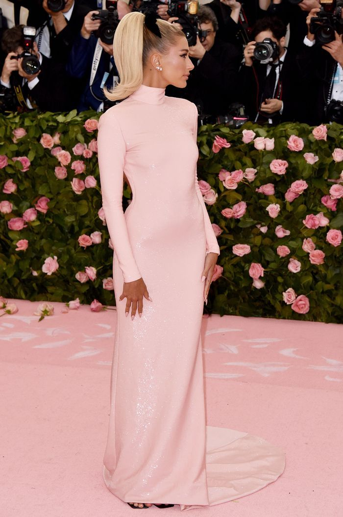 283bd426eba1 Hailey Bieber Just Wore a G-String Thong Dress to the Met Gala in ...