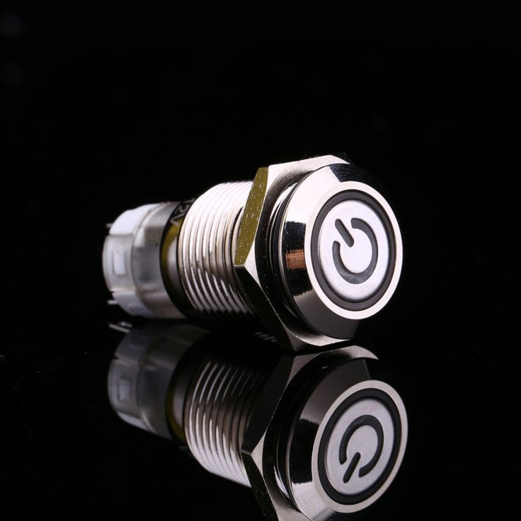 White Light Hot Car Auto Metal LED Power Push Button Switch Latching Type On-off  12V 16mm Waterproof -- Click the VISIT button to find out more