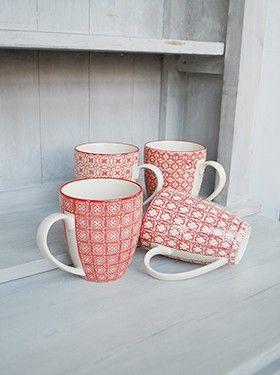 Set de 4 mugs 'léonie'