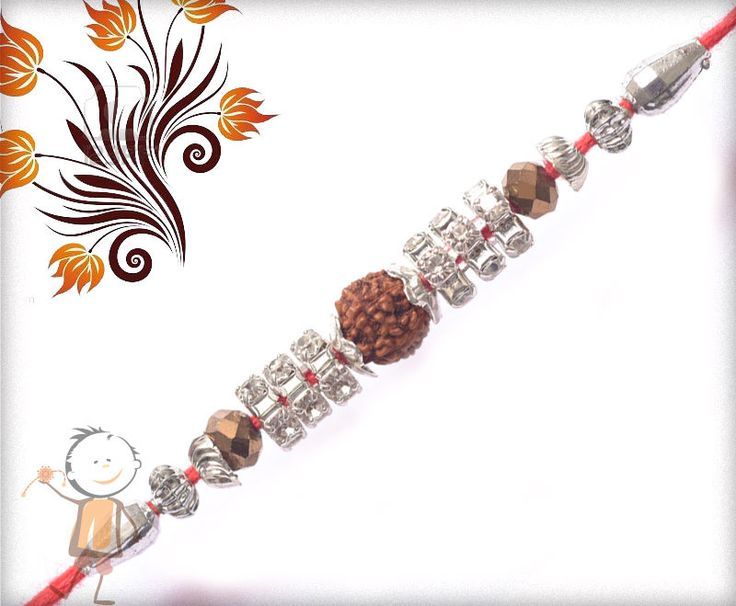 Rudraksh #Rakhi Collection 2015 – Send  #Rakhi to #India, #USA, #UK, #Canada, #Australia, #Dubai #NZ #Singapore. Beautiful Dimonds with Rudraksh #Rakhi, surprise your loved ones with roli chawal, chocolates and a greeting card as it is also a part of our package and that too without any extra charges.   http://www.bablarakhi.com/send-fancy-rakhi-online/1000-send-beautiful-dimonds-with-rudraksh-rakhi-online.html