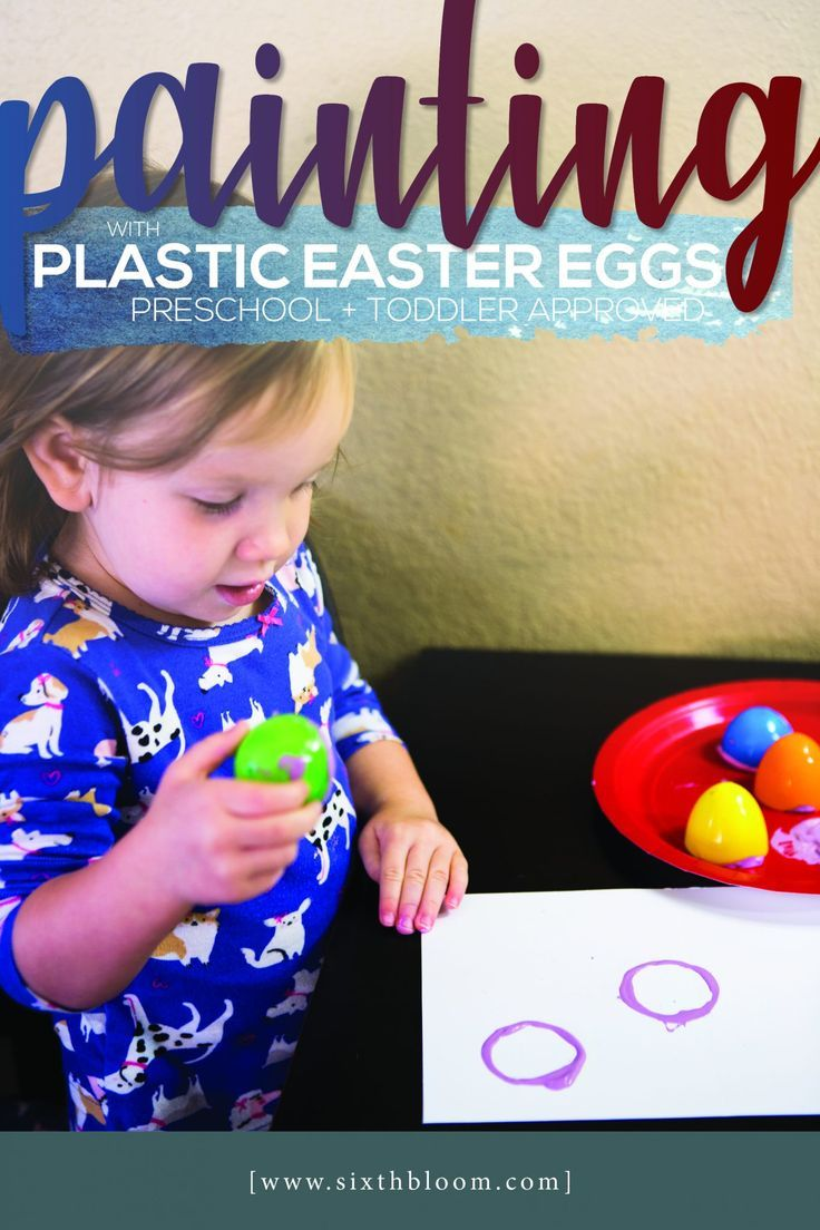 Painting With Plastic Easter Eggs Stem Projects