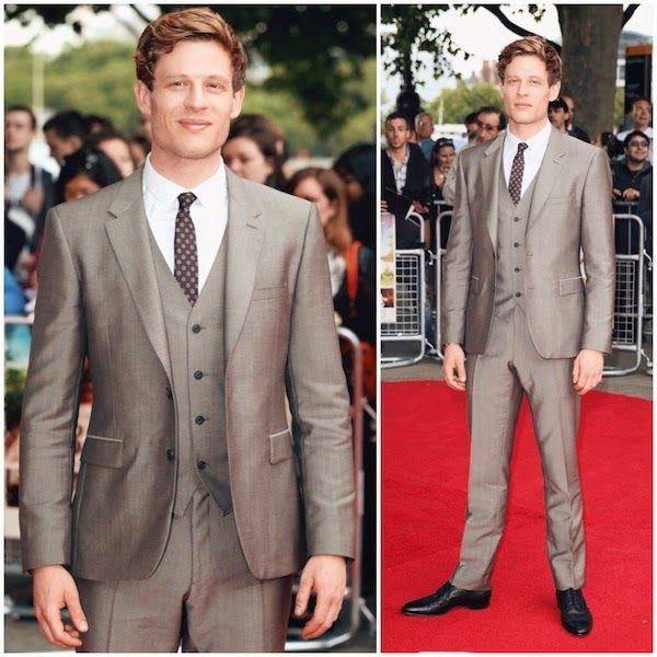 James Norton Burberry suit 'Belle' UK Premiere http://www.whats-he-wearing.com/2014/06/tom-felton-sam-reid-james-norton-burberry-tailoring-BELLE-UK-premiere.html