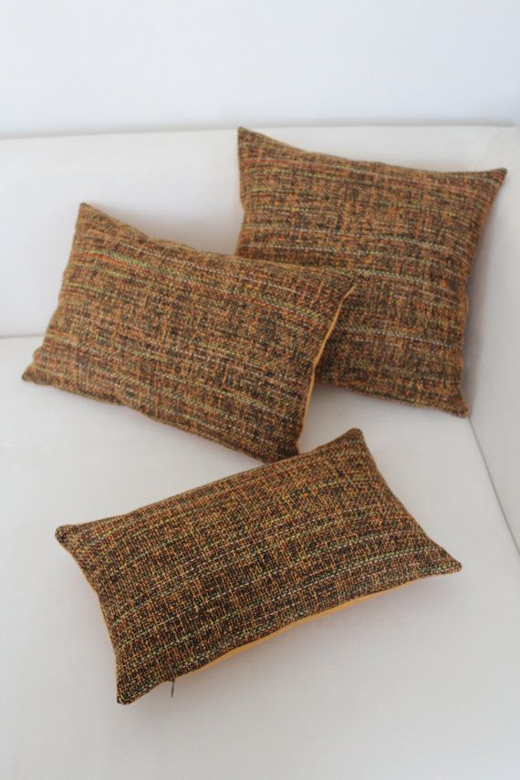 Set of 6, Decorative Orange and Brown Pillow Cover Set, Living Room, Bedroom on Etsy, $59.00