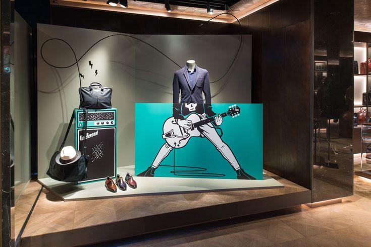 Lawerta ilustra los escaparates de la firma francesa de alta costura Berluti