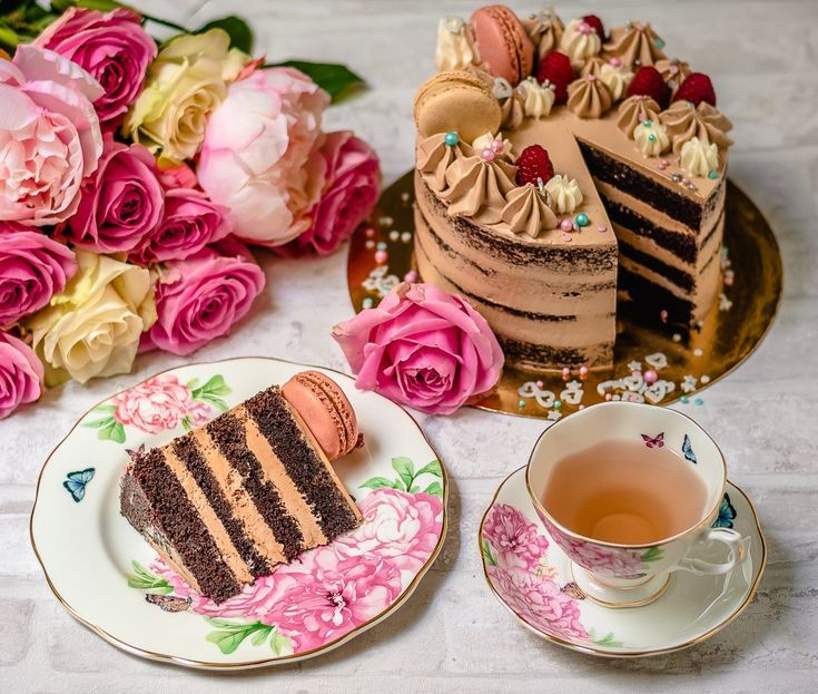 """#TodayIs #NationalChocolateCakeDay! #ChocolateCake is best with tea.   """"Give us this day our daily bread."""" (Matthew 6:11; Luke 11:3)    #Jesus: """"I was hungry and you gave me food, I was thirsty and you gave me something to drink,..As you did it to one of the least of these my brothers, you did it to me."""" (Matthew 25:35-36)     #God #HolySpirit #Christ #Bible #Christian #Prayer #Salvation #Savior #Faith #Grace #Truth #Righteousness #Eternal #Life #inspire #Inspiration #SaturdayMorning"""