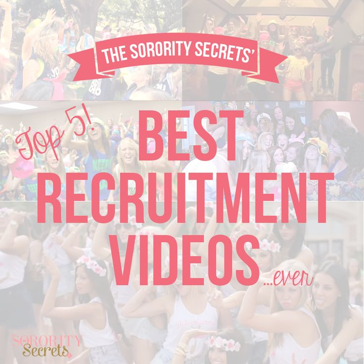 The Sorority Secrets: Top 5 Best Recruitment Videos!  #Sorority #GreekLife #Recruitment #TSS #SororitySecrets