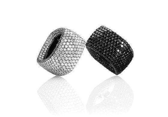 CAD Designed Creations With Black and White Diamonds