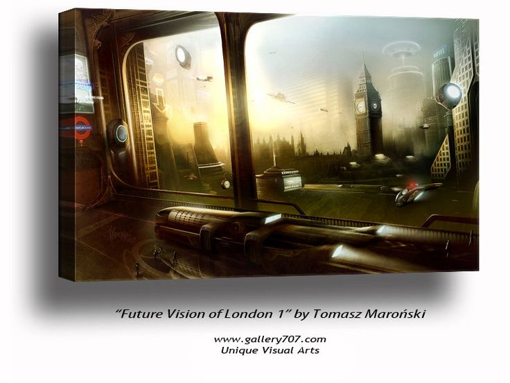 Big Ben canvas art, Large canvas of Big Ben, Big Ben London Art, London canvas art, Big Ben Fantasy art, Fantasy art of London, Fantasy Art by StudioViali on Etsy