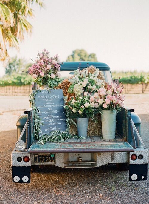 Wedding invitation on a car with flowers #beautiful #car #colorful #colors #cute #floral #flores #flowers #girl #holidays #horizon #landscape #love #nature #plants #rainbow #romantic #roses #spring #summer #sweet #trees #truck
