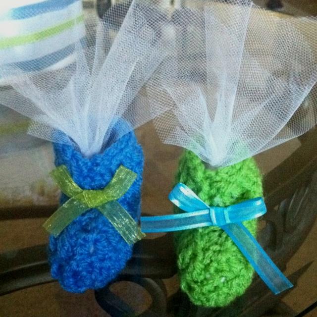 favors baby shower ideas pinterest crochet bootie and favors