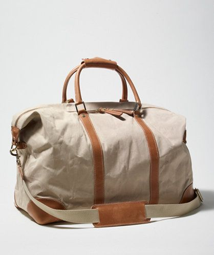 Waxed-Canvas Weekender: BAGS | Free Shipping at L.L.Bean