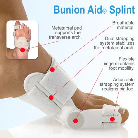The Bunion Aid® Treatment Splint is the only podiatrist recommended bunion splint proven to effectively treat bunions.
