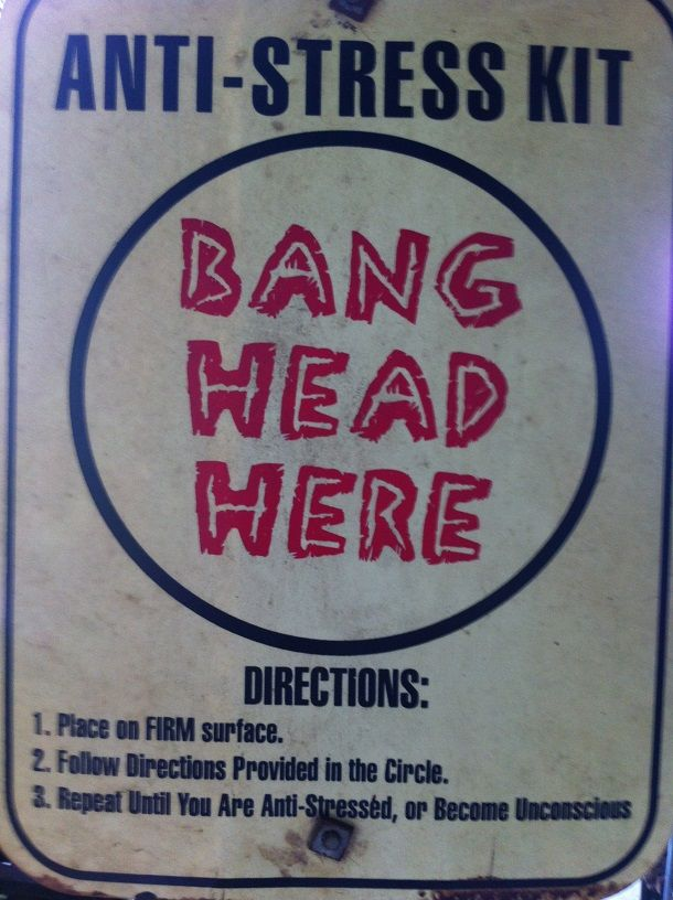 How To Relieve Stress Bang Head Here!   The Travel Tart Blog