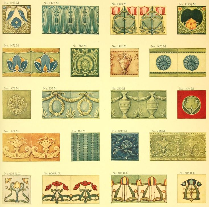 I've been digging thru period catalogs again. I ran across a color Minton Tile catalog from c. 1905 that is quite stunning. Here are many c...