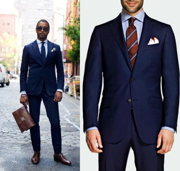 Pics For > Navy Blue Suits Combinations