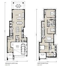 Image result for 2 storey narrow house plans