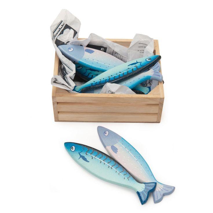 Le Toy Van Holzspielzeug Marktstand Kiste 'Frischer Fisch' 8-teilig bei Fantasyroom online kaufen