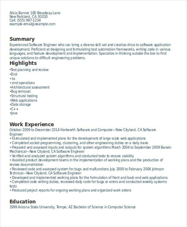 Resume Format Experience Resume Format Resume Format Download
