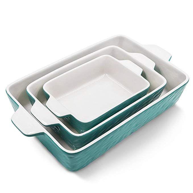 Bakeware Set Krokori Rectangular Baking Pan Ceramic Glaze Baking