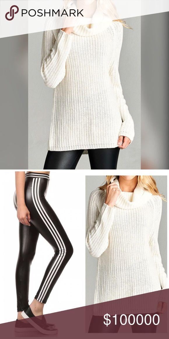 Winter White Tunic Sweaters 90