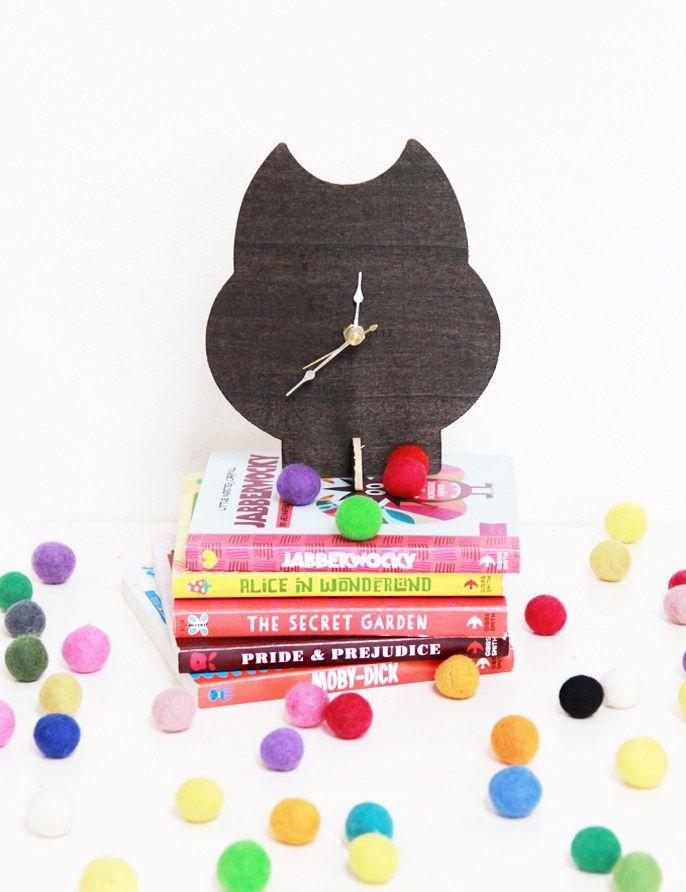 DIY Wooden Animal Clock Nursery