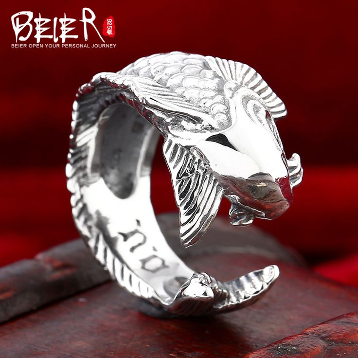 Beier 925 silver sterling jewelry 2015 fashion animal fish jump opening ring man and women ring D0834