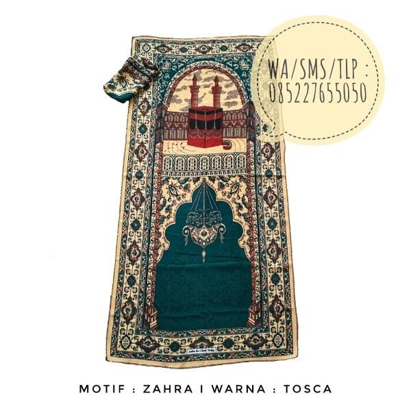 Beli Sajadah Lipat Motif Zahra Tosca dari Permana Jaya Store grosirsajadahmurah - Banjarnegara hanya di Bukalapak